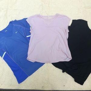 Nike Lululemon Zella Lot of 3Tops Size Large EUC